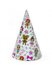 Бумажные колпачки, с куклами Лол, 6 шт