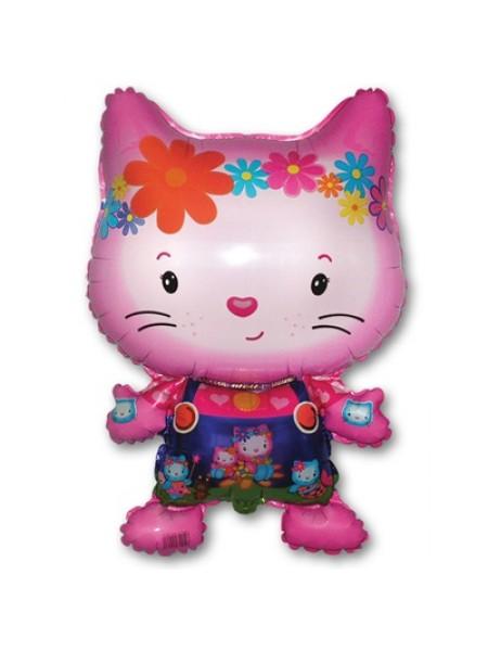 """Фольгированный шар с гелием """"Hello Kitty"""" розовый"""