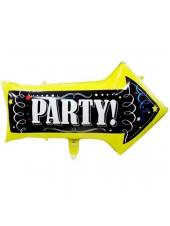 Фольгированный шар с гелием Стрелка, Party  82 см