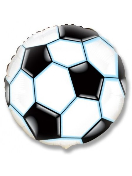 """Фольгированный шар с гелием """"Мяч Черно-белый"""""""