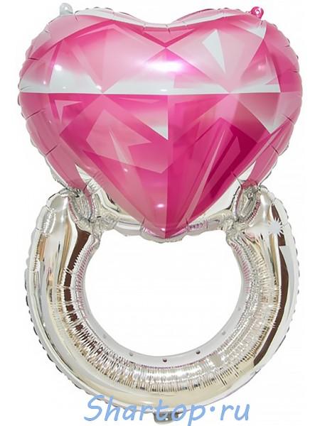 """Шар """"Кольцо с розовым бриллиантом"""" 81 см."""