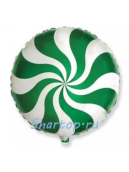 """Фольгированный шар """"Леденец зеленый"""" 46 см"""