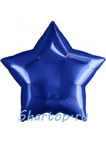 """Фольгированная звезда """"Синяя"""" 46 см"""