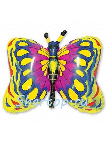 Фольгированный шар Бабочка золотая 90 см