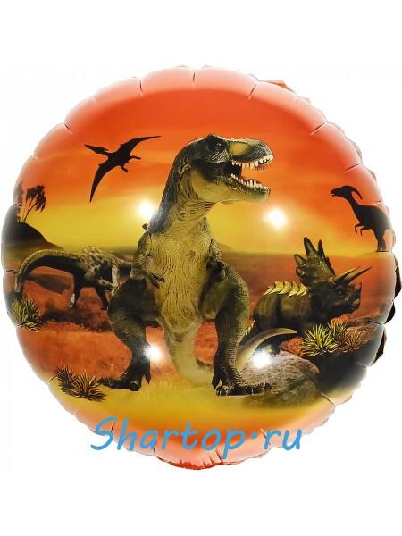 """фольгированный шар """"Эра Динозавров"""" 46 см."""