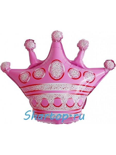 """Фольгированный шар с гелием """"Розовая Корона""""  76 см"""