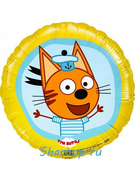 """Фольгированный шар с гелием """"Три Кота Коржик"""" 46 см."""