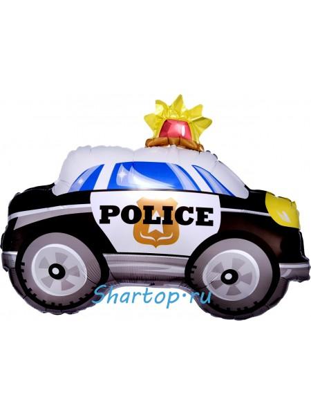 Фольгированный шар машина полиции