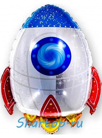 """Фольгированный шар с гелием """"Ракета Белая"""" 74 см"""