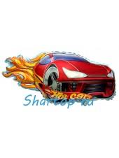"""Фольгированный шар с гелием """"Гоночная машина красная, Hot Cars""""  79см"""