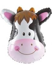 """Фольгированный шар с гелием """"Корова"""" 87 см"""