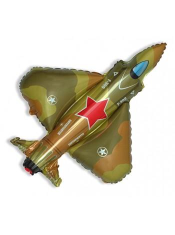 """Фольгированный Шар с гелием """"Самолет истребитель, военный""""  99 см. Испания"""