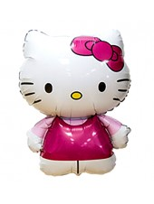 "Фольгированный шар с гелием ""Hello Kitty"" белая"