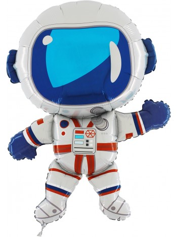 """Фольгированный шар с гелием """"Космонавт"""" Grabo Италия 102 см"""