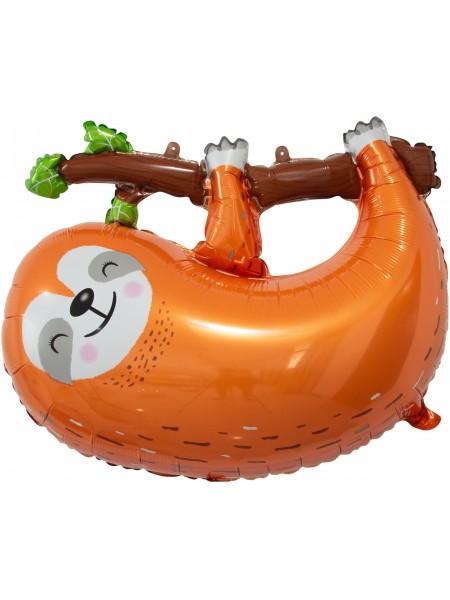 """Фольгированный шар с гелием """"Ленивец на ветке"""" 79 см."""