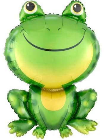 """Фольгированный шар с гелием """"Лягушка"""" 84 см."""