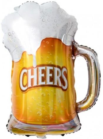 """Шар Пиво в кружке """"CHEERS"""" 74 см"""