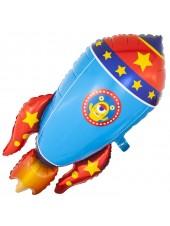 """Фольгированный шар с гелием """"Ракета"""" 104 см"""