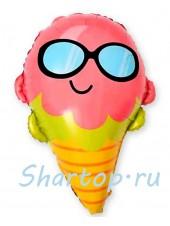 """Фольгированный шар """"Деловое Мороженное"""" 68 см"""