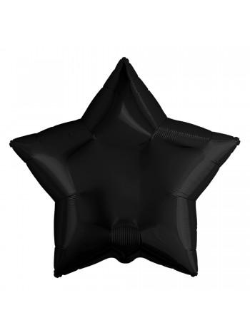 """Фольгированный шар звезда """"Черная"""" 48 см."""