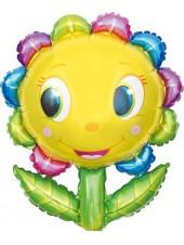 """Фольгированный шар с гелием """"Цветок улыбка"""" 87 см"""