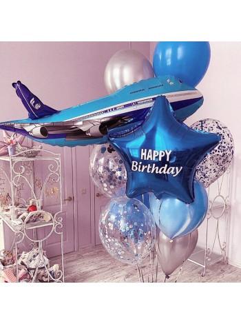 Композиция из шаров с Самолетом