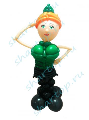 Фигура из шаров Солдатка