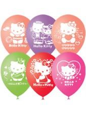"""Шары с гелием """"Hello Kitty"""" пастель"""