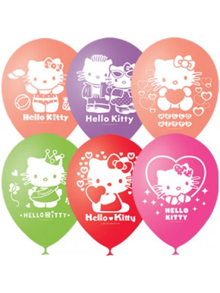 "Шары с гелием ""Hello Kitty"" пастель"