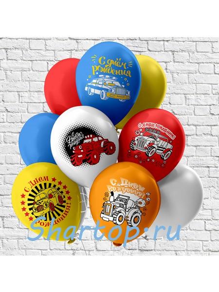 Композиция из шаров, С Днем рождения Тачки