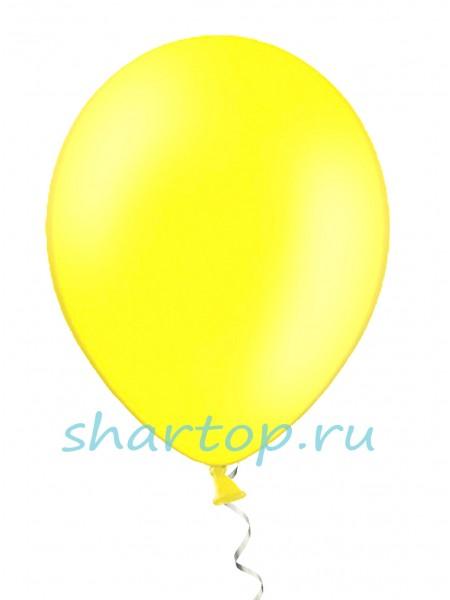 """Шары однотонные """"ЖЕЛТЫЙ"""" 25 см"""
