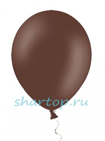 """Шары однотонные """"КОРИЧНЕВЫЙ"""" 25 см"""