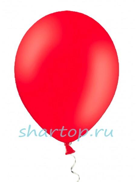 """Шары однотонные """"КРАСНЫЙ"""" 25 см"""