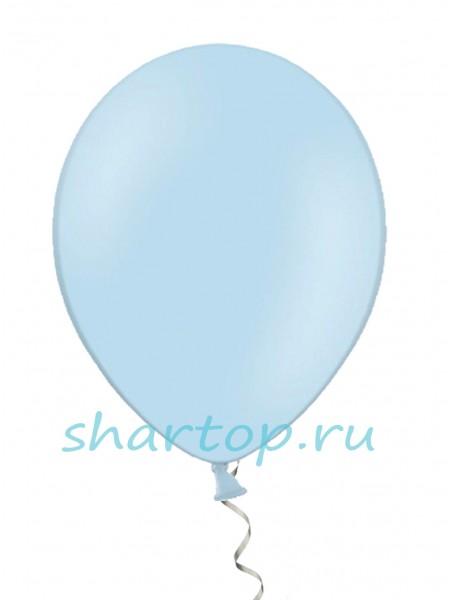 """Шары однотонные """"ГОЛУБОЙ"""" 25 см"""