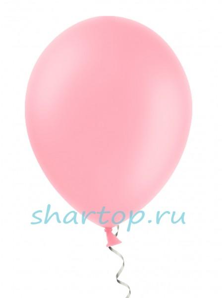 """Шары однотонные """"РОЗОВЫЙ"""" 25 см"""