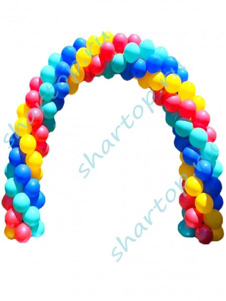 Арка из шаров Разноцветная  (цвета на Ваш выбор)