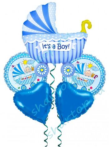 """Букет из шаров """"С рождением мальчика"""""""