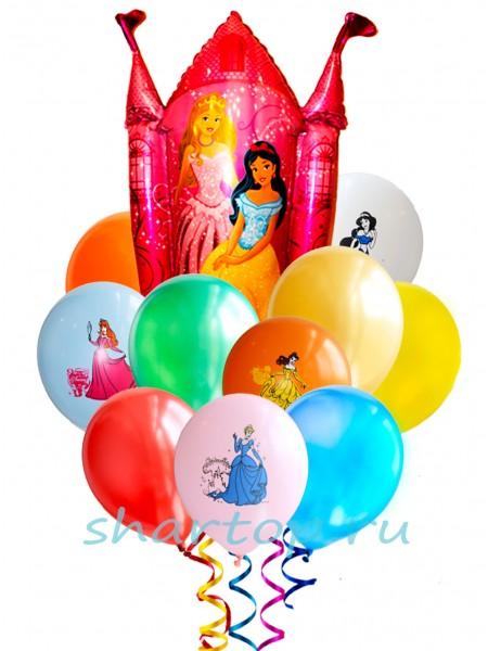 """Букет из шаров """"Замок принцессы"""""""