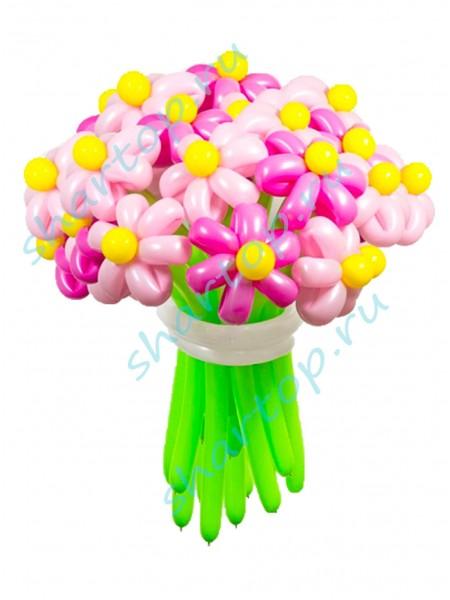"""Цветы из шаров """"Ассорти Розовые"""""""