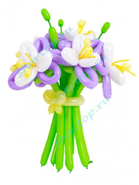 """Цветы из шаров """"Лилии"""""""