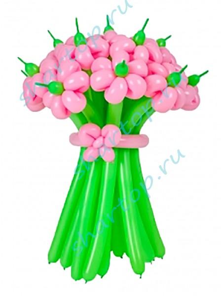 """Цветы из шаров """"Розовые"""""""