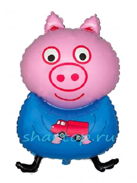 """Фольгированный шар с гелием """"Свинка Джордж"""" 81 см"""