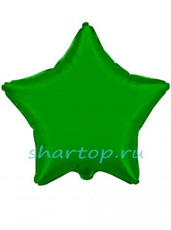 """Фольгированная звезда """"Зеленая"""" 46 см"""