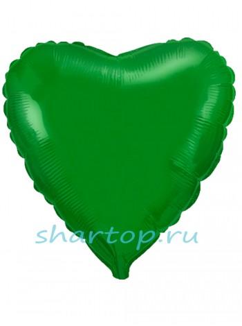 """Фольгированное Сердце """"Зеленый"""""""
