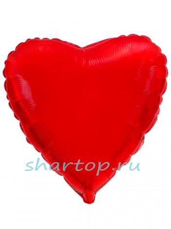 """Фольгированный шар с гелием """"Сердце Красный"""""""