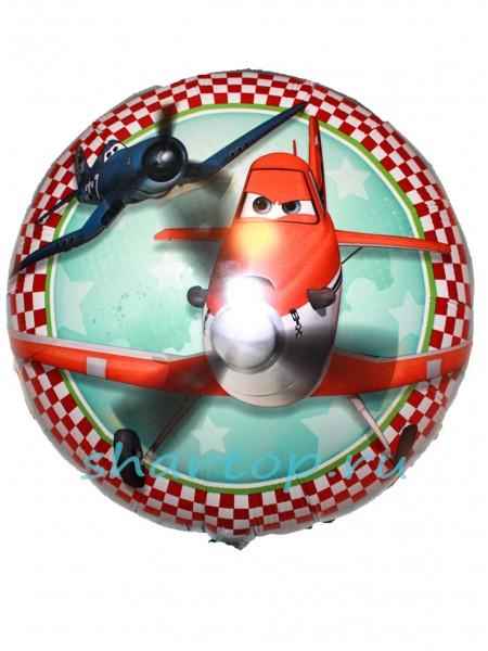 """Фольгированный шар подушка с гелием """"Самолеты"""""""