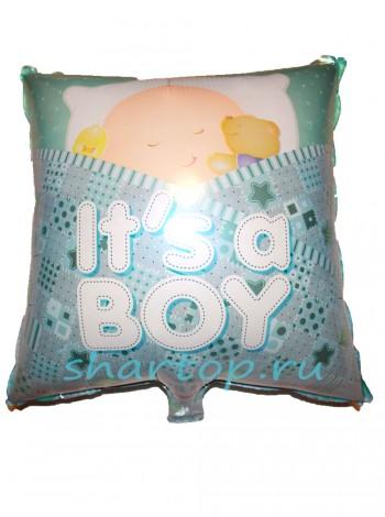 """Фольгированный шар подушка """"Its boy"""""""