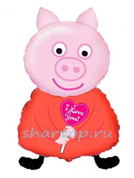 Фольгированный шар, Свинка Пеппа 81 см
