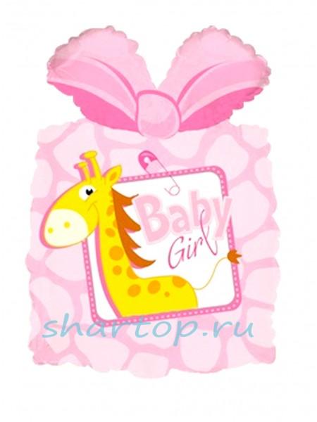 """Фольгированный шар  """"Подарок Розовый"""""""