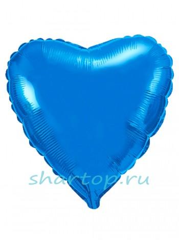 """Фольгированное Сердце """"Синее"""""""